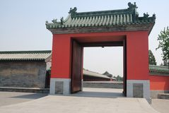 Porta chinesa imagem de stock royalty free