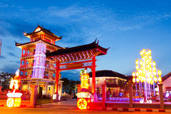 Porta chinesa da vila Fotos de Stock