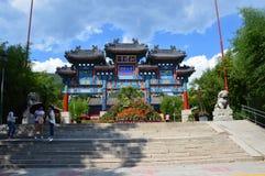 Porta chinesa do templo Imagem de Stock Royalty Free