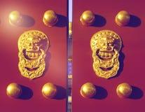 Porta chinesa icónica Lion History China Religion Concept Foto de Stock