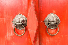 Porta chinesa velha Fotos de Stock