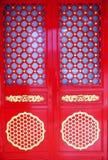 porta chinesa vermelha Fotografia de Stock Royalty Free