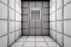 Porta chiusa cellula riempita vuota Immagini Stock Libere da Diritti