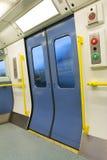 Porta chiusa del treno Fotografie Stock