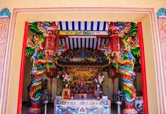 Porta cinese del santuario Fotografia Stock
