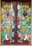 Porta cinese del tempio Fotografie Stock
