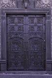 Porta cinzelada Colonial Fotos de Stock Royalty Free