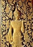 Porta cinzelada do templo Fotos de Stock