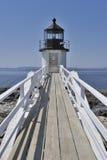 Porta Clyde Maine do farol do ponto de Marshall, EUA Imagem de Stock Royalty Free