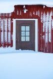 Porta coberto de neve Fotografia de Stock