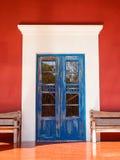 Porta colonial velha Foto de Stock