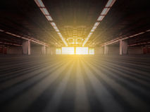 Porta com parte externa clara brilhante Fotografia de Stock