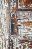 Porta con pittura incrinata Fotografia Stock Libera da Diritti