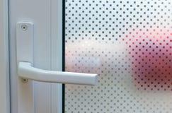 Porta con vetro modellato Immagini Stock