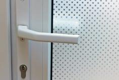 Porta con vetro modellato Immagine Stock