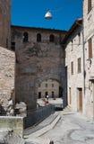 Porta Consolare. Spello. L'Umbria. Fotografia Stock