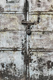 Porta corroída do metal Foto de Stock Royalty Free