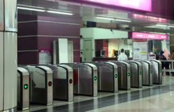 Porta d'accesso automatica della stazione immagine stock libera da diritti