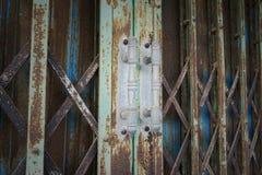 Porta d'acciaio Immagine Stock Libera da Diritti