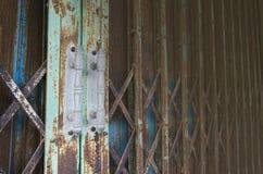 Porta d'acciaio Fotografia Stock