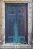 Porta d'acciaio decorata Immagini Stock Libere da Diritti