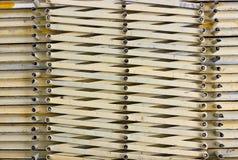 Porta d'acciaio del portone chiusa nel commercio, costruzione Fotografia Stock Libera da Diritti