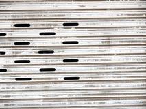 Porta d'acciaio dell'otturatore Immagine Stock