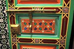 Porta d'annata e maniglia Fotografie Stock Libere da Diritti