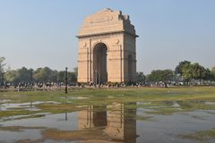 Porta da Índia, Nova Deli, Índia norte Foto de Stock Royalty Free