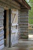Porta da cabine de registro Imagem de Stock