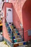 Porta da casa na ilha dos ísquios Foto de Stock Royalty Free
