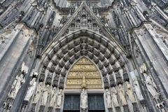 Porta da catedral da água de Colônia, Alemanha Fotografia de Stock