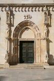 Porta da catedral Imagens de Stock Royalty Free