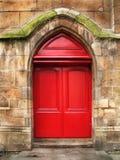 Porta da catedral de pedra Fotos de Stock