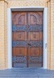 Porta da catedral de St Stanislaus Kostka (1912) em Lodz, Polônia Imagens de Stock Royalty Free