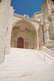 Porta da catedral na cidade de Lleida Imagem de Stock Royalty Free