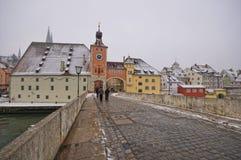 Porta da cidade de Brucktor, Regensburg, Alemanha Fotografia de Stock Royalty Free