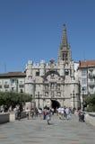 Porta da cidade de Burgos Fotografia de Stock Royalty Free
