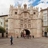 Porta da cidade em Burgos, Spain Foto de Stock