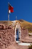 Porta da entrada da igreja Vila de Machuca San Pedro de Atacama Região de Antofagasta chile Fotografia de Stock