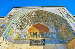A porta da entrada de Madraseh-YE Khan, Shiraz, Irã Fotos de Stock Royalty Free