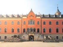 Porta da entrada do castelo de Sychrov na república checa Imagem de Stock