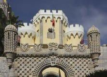 Porta da entrada do palácio do nacional de Pena Imagem de Stock Royalty Free