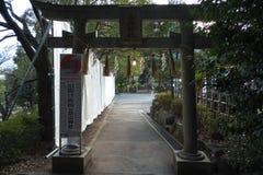 Porta da entrada do shrinetorii de Hakusan Imagens de Stock