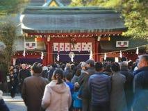 Porta da entrada do shrinetorii de Okunitama Fotos de Stock Royalty Free
