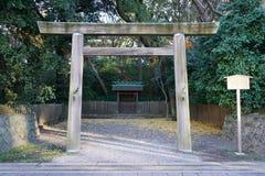 Porta da entrada do shrinetorii de Shimochikama Foto de Stock