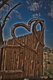 Porta da entrada dos lagos love imagem de stock