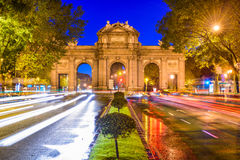 Porta da Espanha do Madri imagens de stock