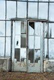 Porta da estufa abandonada imagens de stock royalty free