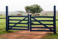Porta da exploração agrícola Imagem de Stock